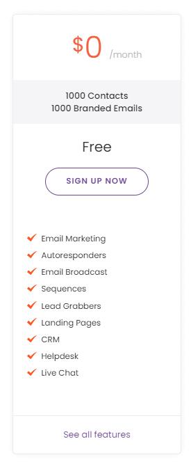 EngageBay free plan