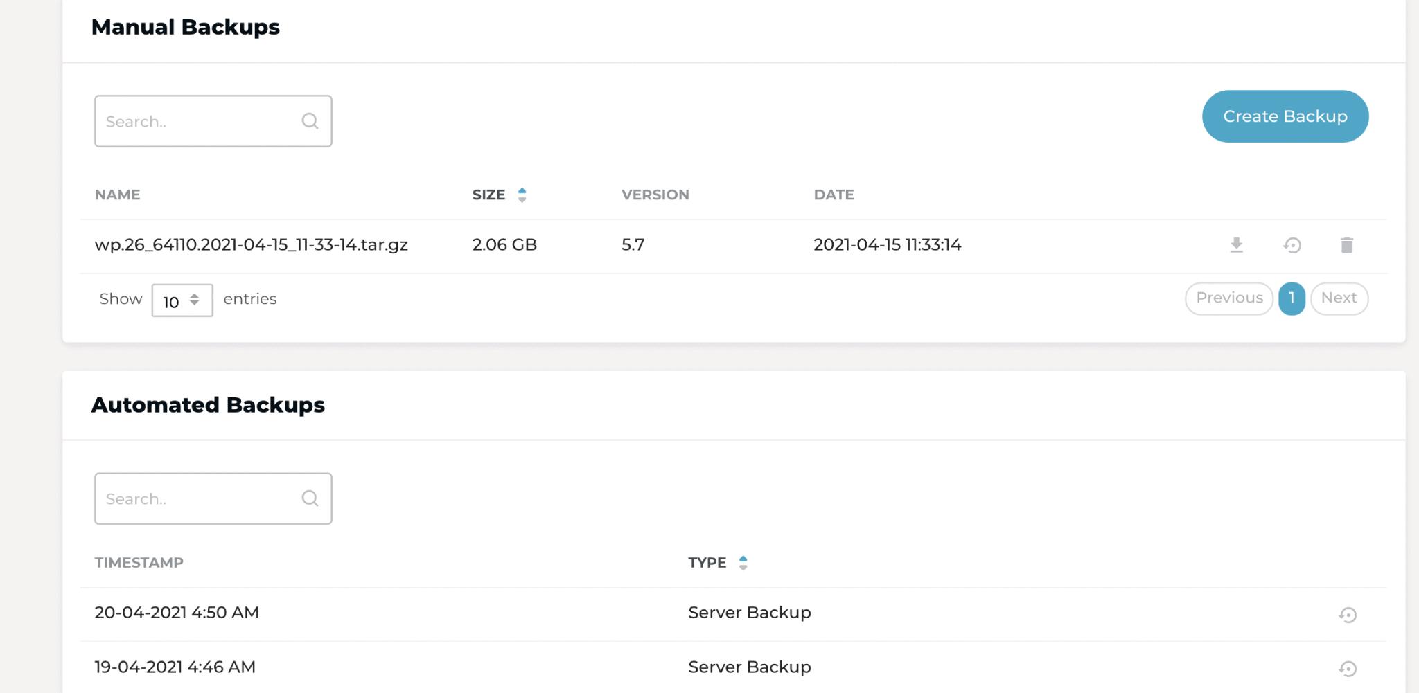 Rocket.net backups