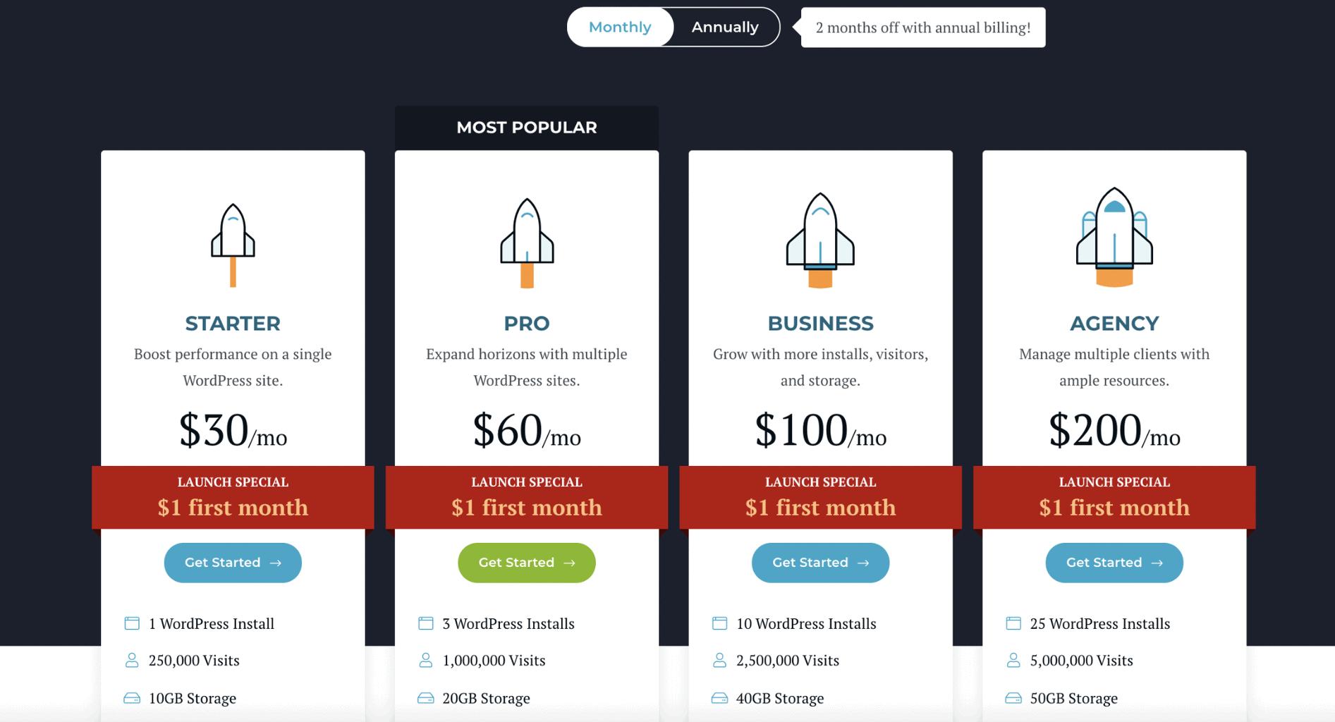 rocket net pricing
