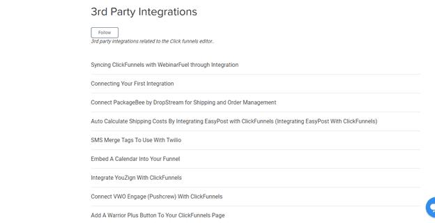 ClickFunnels integration