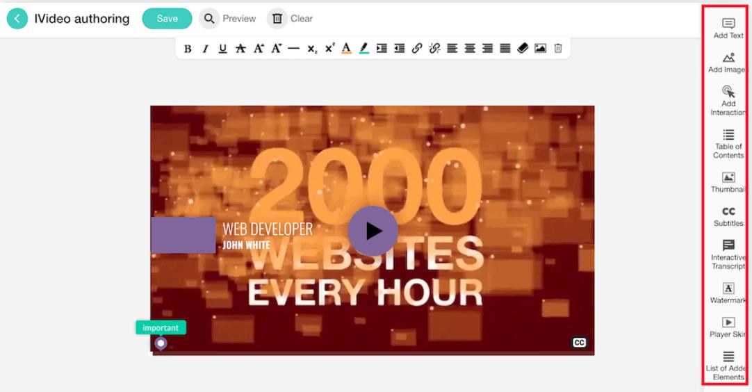 Creating interactive videos