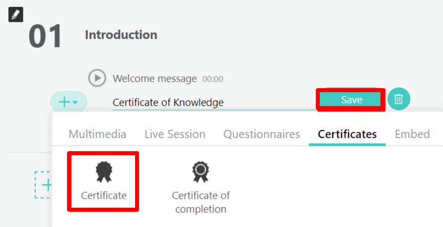 Issuing course certificates LearnWorlds