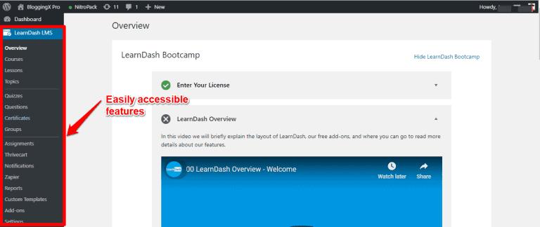 LearnDash interface