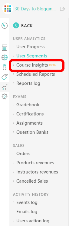 LearnWorlds course insights