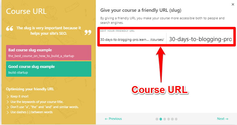 LearnWorlds course structure