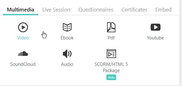 LearnWorlds multimedia