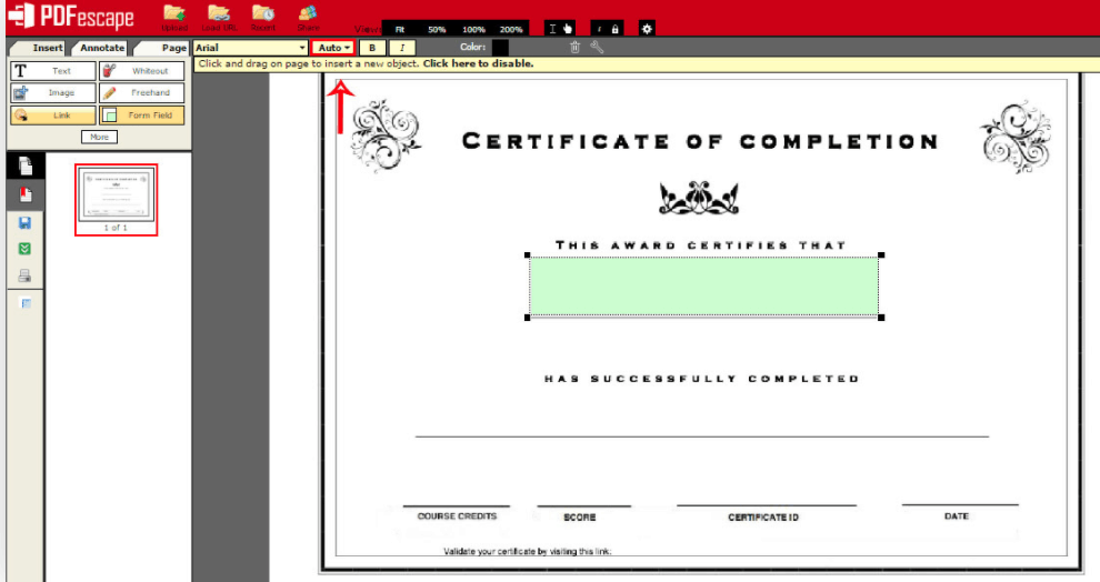 LearnWorlds PDF certificate templates