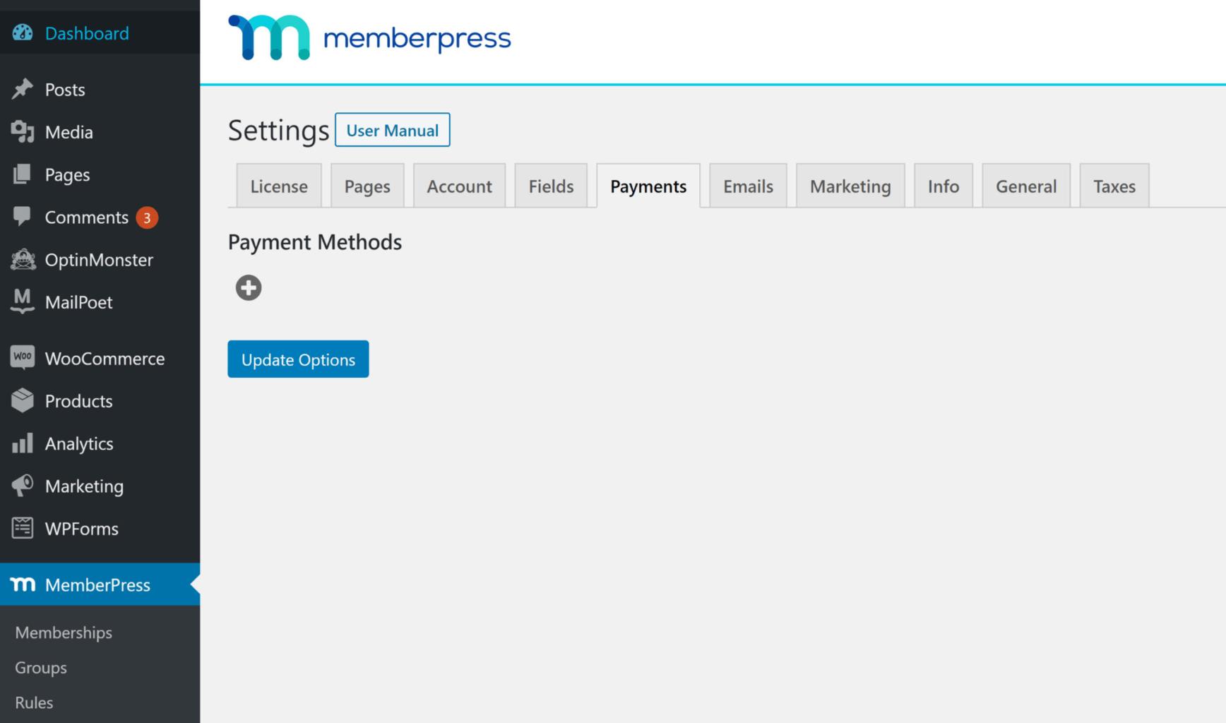 Memberpress  dashboard