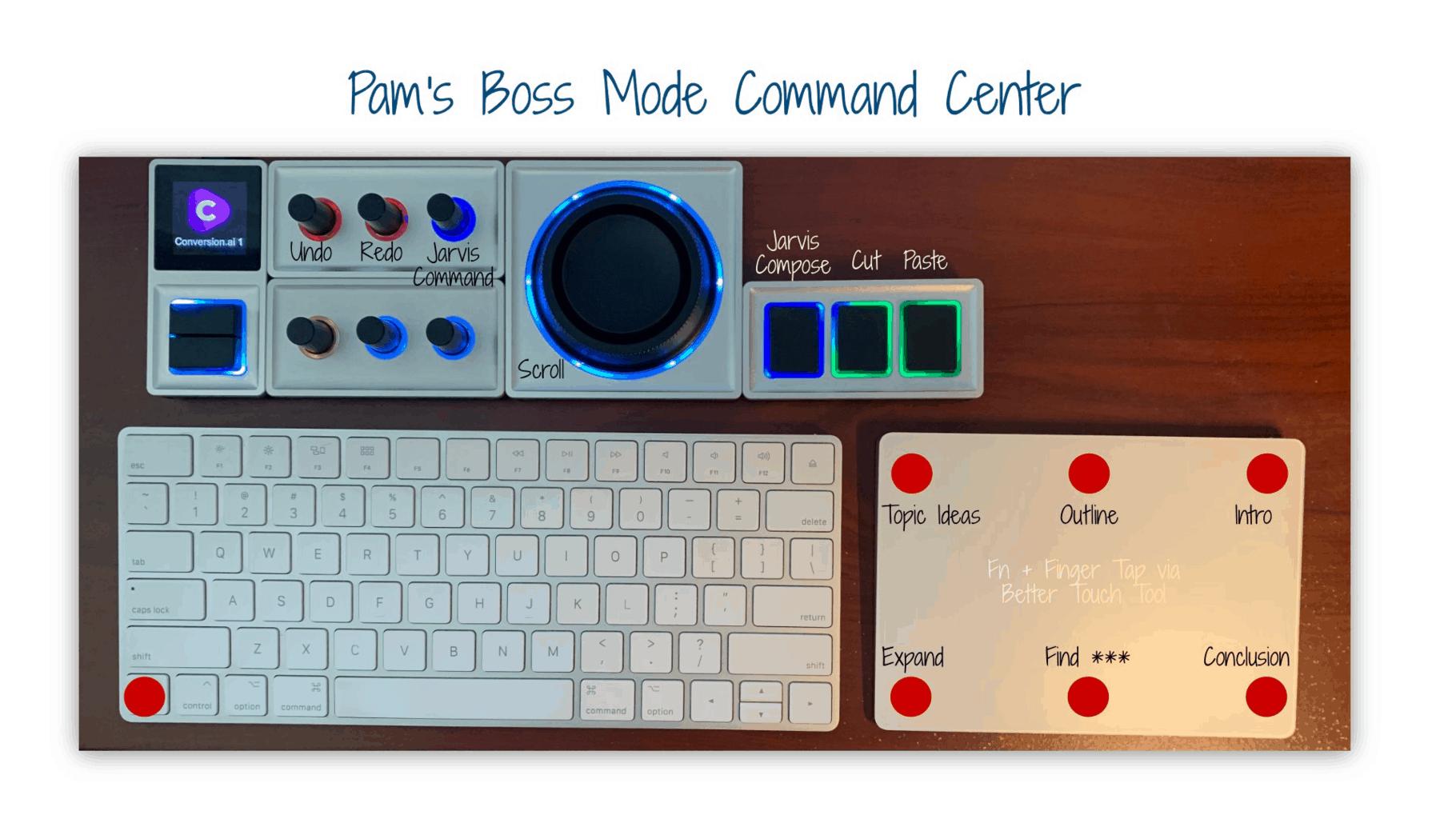Pam's boss mode command center