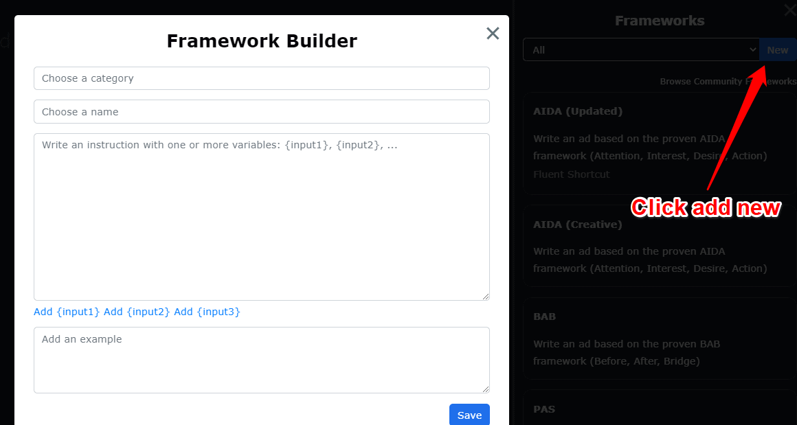 Framework builder
