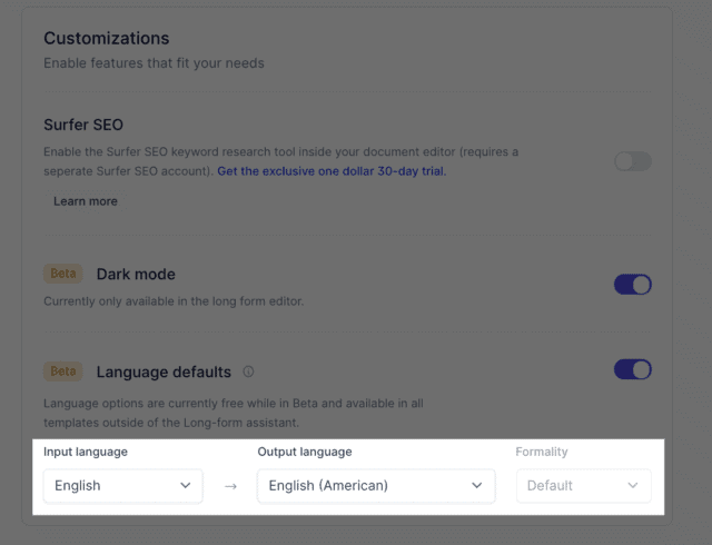 Jarvis supported languages